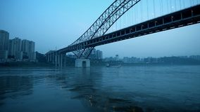 Tráfico dimensional de China Chongqing almacen de metraje de vídeo