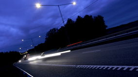 Tráfico en autopista sin peaje almacen de video
