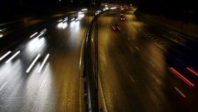 Tráfico en autopista sin peaje almacen de metraje de vídeo