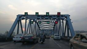 Tráfico en Bangkok Imagen de archivo libre de regalías