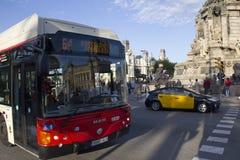 Tráfico en Barcelona, España Imagen de archivo libre de regalías