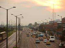 Tráfico en Bogotá, Colombia. Fotografía de archivo