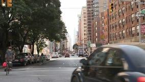 Tráfico en Broadway almacen de metraje de vídeo