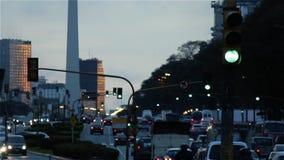 Tráfico en Buenos Aires, en la oscuridad almacen de video