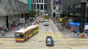 Tráfico en el área Hong Kong de CBD almacen de video