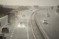 Tráfico en el A421 Bedfordshire Reino Unido Imagenes de archivo