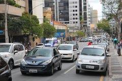 Tráfico en el Brasil Foto de archivo