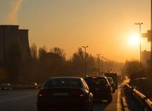 Tráfico en el camino Foto de archivo libre de regalías