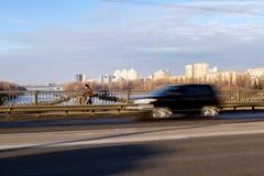 Tráfico en el puente Fotos de archivo libres de regalías
