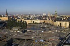 Tráfico en Estocolmo, Suecia Foto de archivo
