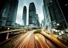 Tráfico en Hong Kong fotografía de archivo libre de regalías