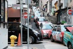 Tráfico en Hong-Kong Imagen de archivo libre de regalías