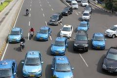 Tráfico en Jakarta céntrica Fotografía de archivo libre de regalías