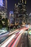Tráfico en Jakarta, capital de Indonesia Foto de archivo libre de regalías