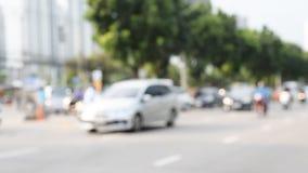 Tráfico en la ciudad almacen de video