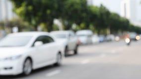 Tráfico en la ciudad almacen de metraje de vídeo