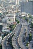Tráfico en la ciudad de Bangkok, Tailandia Fotografía de archivo libre de regalías