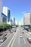 Tráfico en la ciudad de shenzhen imagen de archivo