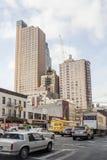 Tráfico en la 9na avenida en Manhattan Fotografía de archivo libre de regalías