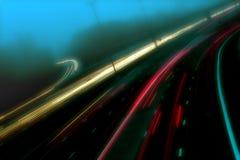 Tráfico en la niebla Foto de archivo libre de regalías