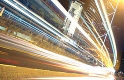 Tráfico en las finanzas urbanas Fotografía de archivo libre de regalías