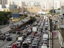 Tráfico en Leste Avenue radial imagen de archivo