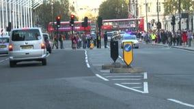 Tráfico en Londres almacen de metraje de vídeo