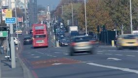 Tráfico en Londres, Inglaterra almacen de video