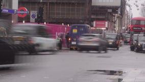 Tráfico en Londres, Inglaterra metrajes