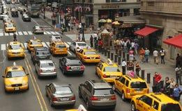 Tráfico en Nueva York Foto de archivo libre de regalías