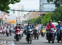 Tráfico en Saigon Foto de archivo libre de regalías