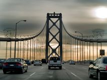 Tráfico en un puente Fotografía de archivo libre de regalías
