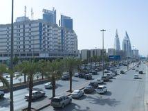 Tráfico ligero en rey Fahad Road fotografía de archivo libre de regalías