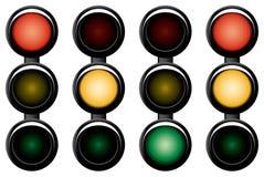 tráfico-luz de 3 secciones. Imagenes de archivo