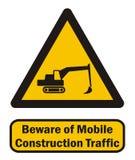 Tráfico móvil de la construcción Fotografía de archivo libre de regalías