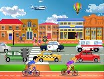 Tráfico ocupado en ciudad