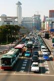 Tráfico ocupado en Shangai Foto de archivo libre de regalías