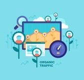 Tráfico orgánico Concepto de SEO libre illustration