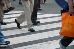 Tráfico peatonal Imágenes de archivo libres de regalías