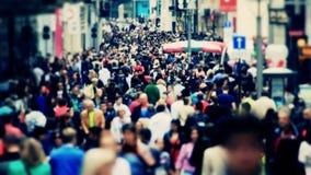 Tráfico peatonal Bruselas de la ciudad almacen de video