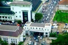 Tráfico por carretera apretado visto del top imágenes de archivo libres de regalías