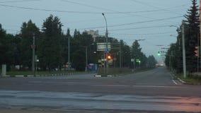 Tráfico por carretera de la mañana almacen de metraje de vídeo