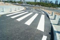 Tráfico por carretera del FTA Qianhai Fotografía de archivo libre de regalías
