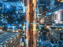 Tráfico por carretera en ciudad en Tailandia imagen de archivo libre de regalías
