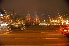 tráfico por la noche 1 Foto de archivo libre de regalías