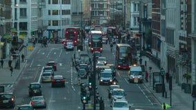 Tráfico por la tarde, Londres almacen de metraje de vídeo