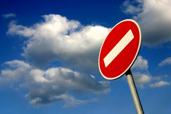 Tráfico prohibido fotos de archivo