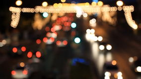 Tráfico rodante en la noche metrajes