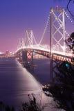 Tráfico San Francisco Transportation de la hora punta del puente de la bahía Fotos de archivo