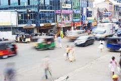 Tráfico srilanqués Foto de archivo libre de regalías